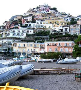 Positano an der Amalfiküste - Bild:vum FelixH unter GNU 1.2