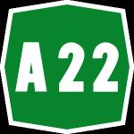 A22 Autostrada Zeichen