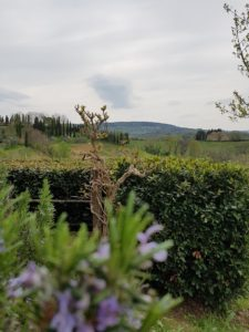 Mögliche Sicht aus dem Garten einer Villa